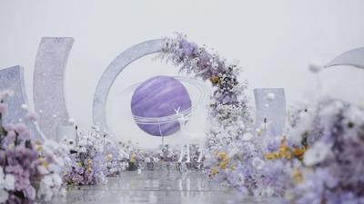 用温柔且浪漫的紫色,勾勒出一场梦幻仙境般的婚礼