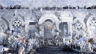 梦幻唯美的童话城堡婚礼
