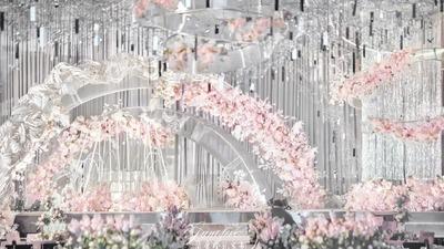 优雅的莫兰迪粉+灰色系婚礼