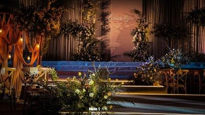 以香奈儿秀场为灵感,呈现出一场高级且有质感的婚礼