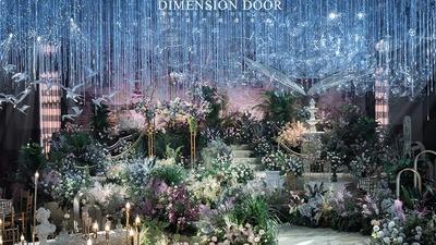 在梦幻场景中充满着原生细节的浪漫花园主题婚礼