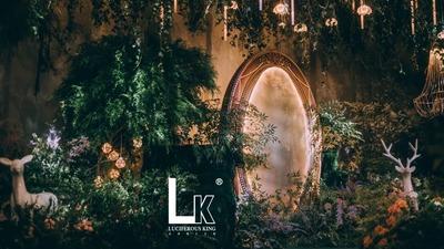 踏着萤火繁星,邂逅一场浪漫之境的森系童话婚礼