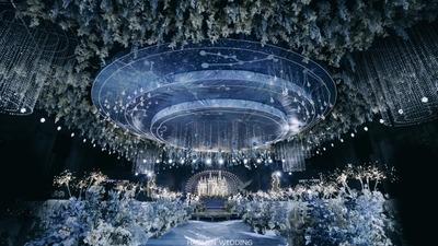 超级梦幻又浪漫的蓝色系星空主题婚礼