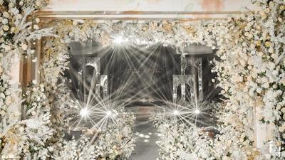 清新淡雅又时尚简洁的白色+香槟色系婚礼