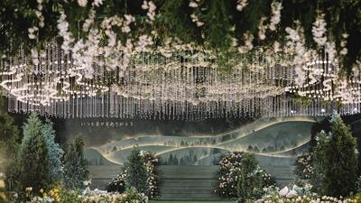 带给宾客独特观礼体验的高级感沉浸式森系婚礼