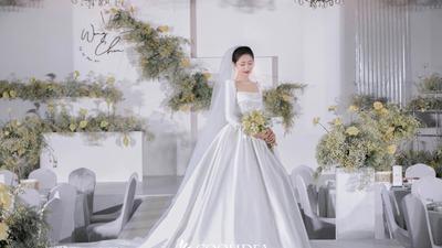 白绿色系经典韩式婚礼