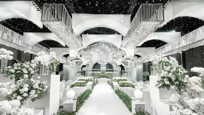 展现出极致高级感且璀璨夺目的水晶宫殿婚礼