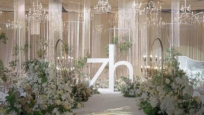 彰显着低调与高雅的清新小森系婚礼