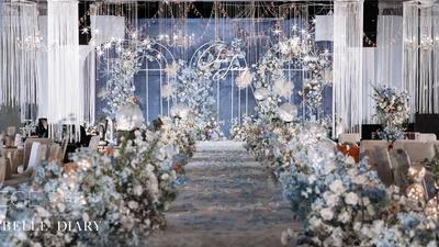 莫兰迪蓝色系婚礼