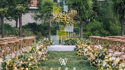 甜蜜浪漫中又有着趣味性的园游会市集风婚礼