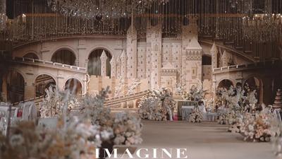 弥漫着法式优雅气息的梦幻城堡主题婚礼