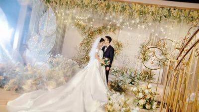 唯美浪漫的香槟色系婚礼