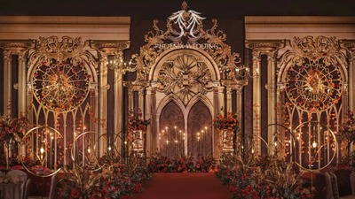 红金色系欧式婚礼