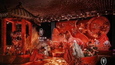 于低调中散发出精致感的红金色系传统中式婚礼