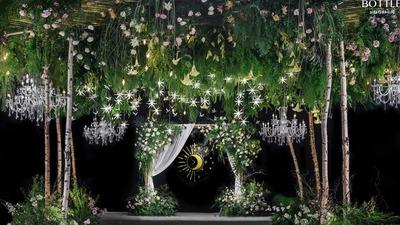 白绿色系轻森系婚礼