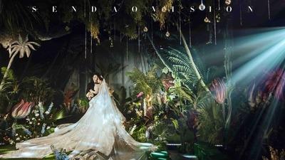 充满神秘情调的森系婚礼