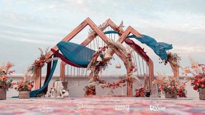 浪漫而又温馨的复古风户外婚礼