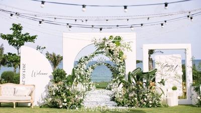氧气感满满的白绿色婚礼