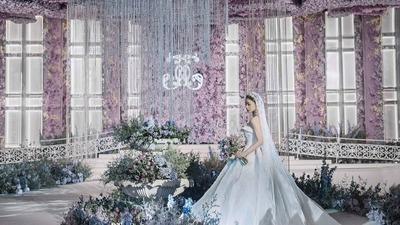 朦胧又浪漫的粉紫色系婚礼