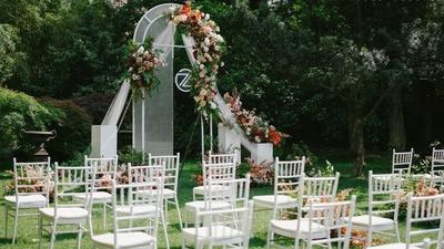 ins风的小型户外婚礼