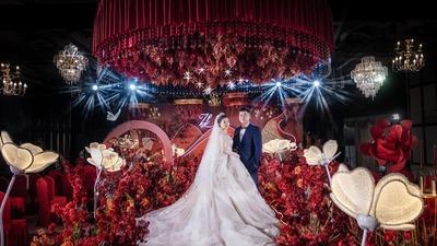 高级质感的红色系婚礼