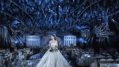 蓝色梦幻海洋主题婚礼