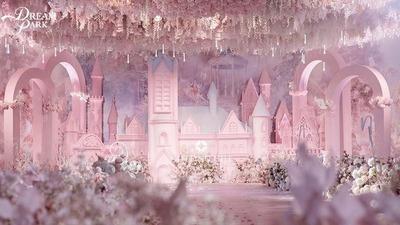 花房里的粉色城堡婚礼