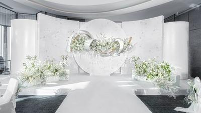 既优雅大方又安静淡然的白色系山茶花主题婚礼