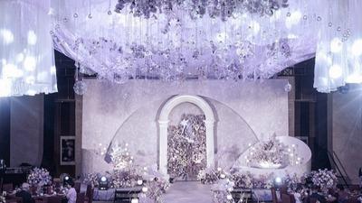 紫色系温柔仙女风婚礼