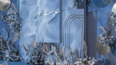 蓝色系地中海风婚礼