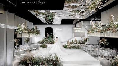 白绿色系现代简约风婚礼