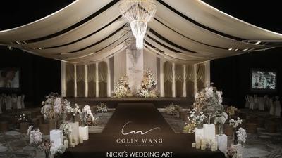 层次分明又富有质感的卡布奇诺色系韩式婚礼