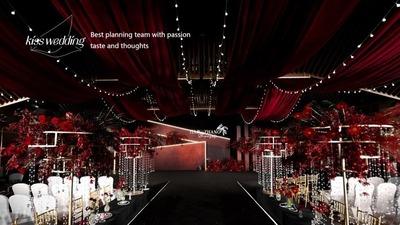 高级感红色系小众婚礼