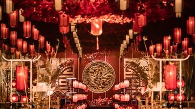 通过多元化的中式元素,营造一场喜庆氛围的中式婚礼