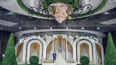 提取简欧庄园的建筑线条,做一场简约大气的CHANEL风格婚礼