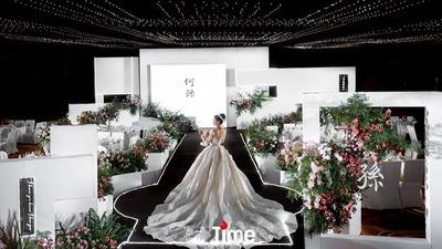 运用留白与镂空打造出层次感的几何风婚礼