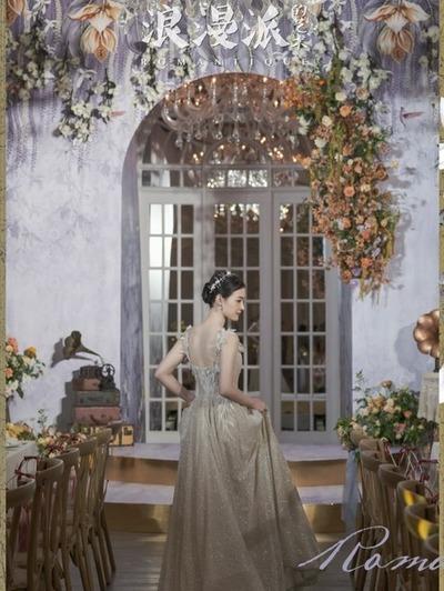 复古风紫色调婚礼