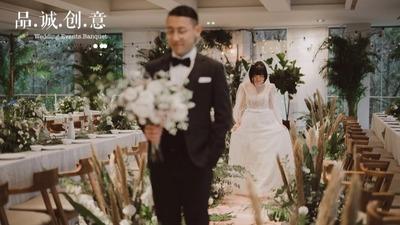 彰显出南法异域风情的牛油果绿色+白色系婚礼