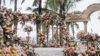 复古庄园风户外婚礼