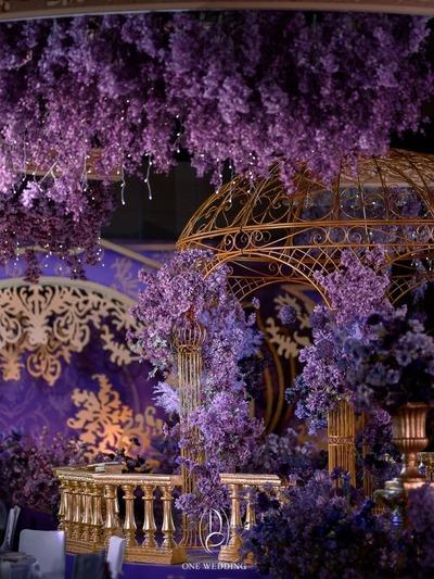 紫金色系的欧式宫廷风婚礼