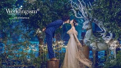 闯进了童话里的森系婚礼
