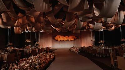 没有繁杂堆砌简洁而大气的艺术风婚礼