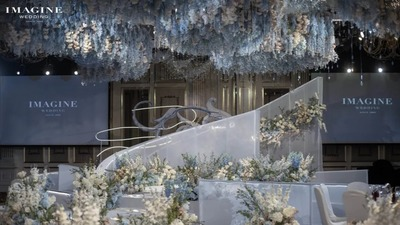 典雅浪漫的蓝白色系婚礼