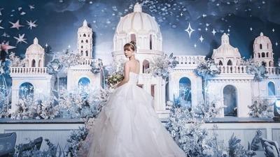 星点闪烁下神秘而又迷人的蓝色城堡主题婚礼