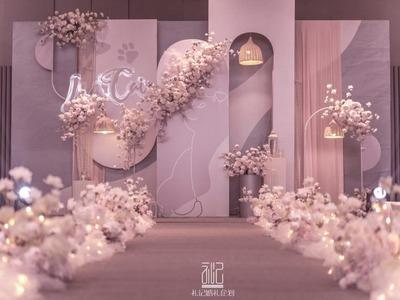 甜而不腻的粉色系婚礼
