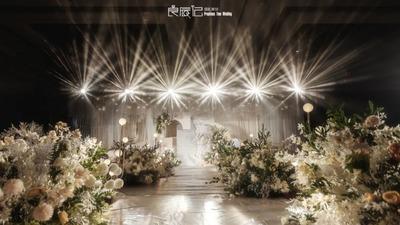 浅香槟色+白色系婚礼