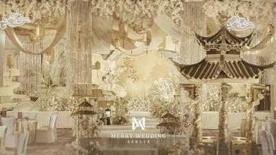 充满简约古典气息的香槟色系新中式婚礼