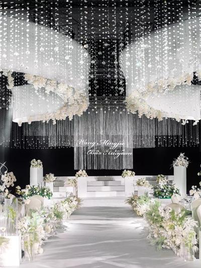 高级感的极简风水晶婚礼