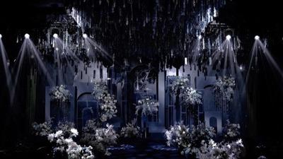 深邃的蓝色系星空婚礼