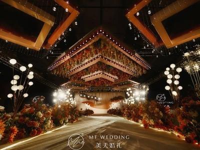 橘棕色系的浪漫秘境婚礼